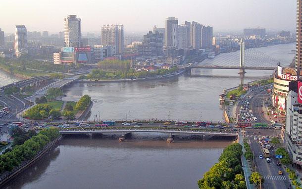 世界遺産「中国大運河(中国)」、浙東運河、寧波・三江口