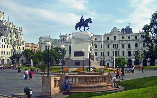 世界遺産「リマ歴史地区(ペルー)」、サン・マルティン広場