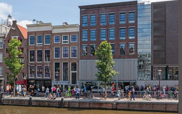 世界遺産「アムステルダムのシンゲル運河内の17世紀の環状運河地区(オランダ)」資産内、アンネ・フランクの家