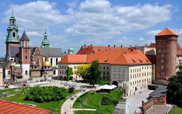 世界遺産「クラクフ歴史地区(ポーランド)」、ヴァヴェル大聖堂とジグムントの塔