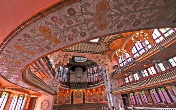 カタルーニャ音楽堂の装飾
