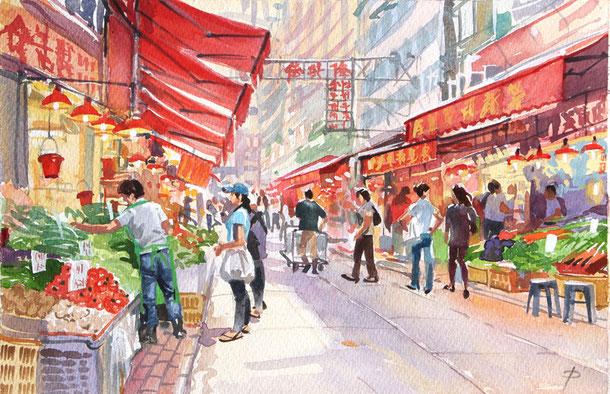 Street Market, Wanchai, Hong Kong