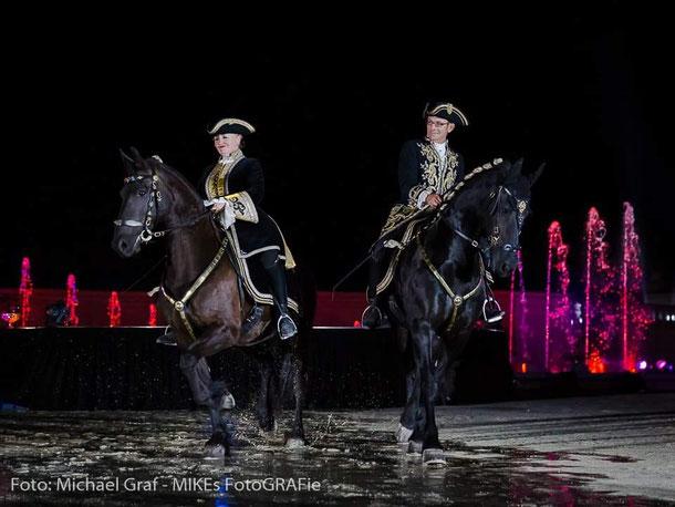 Barbara und Franz während dem Auftritt, Danke Michael Graf für das Foto