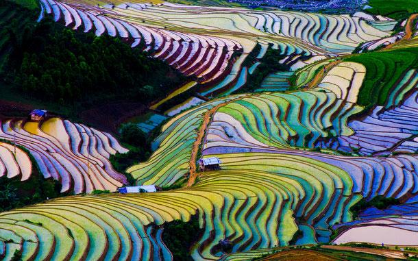 D ie Bergewelt von Sa Pa ist berühmt für seine viele Reisterrassen
