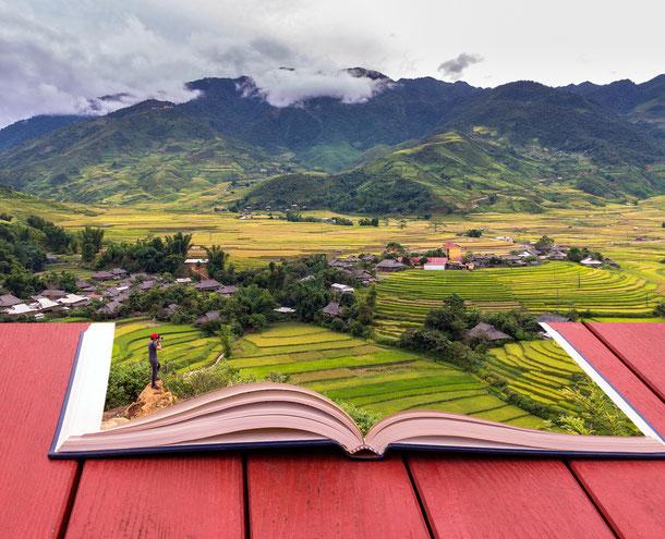 Die Bergwelt von Sapa ist einzigartig in Vietnam und bietet mit seinen nebelverhangenen Bergen ein tolles Fotomotiv
