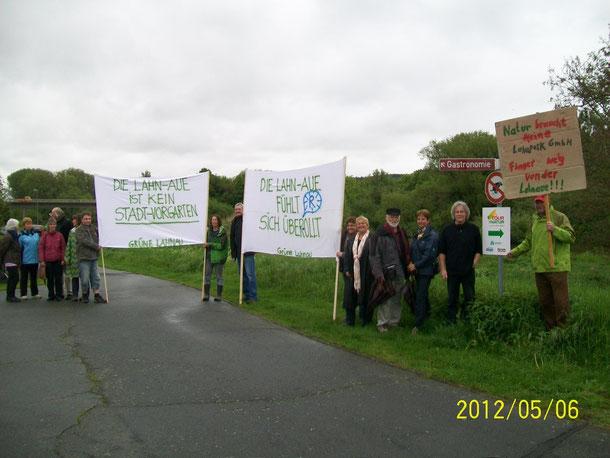 Erster öffentlicher Protest bei Dorlar am 6.5.2012