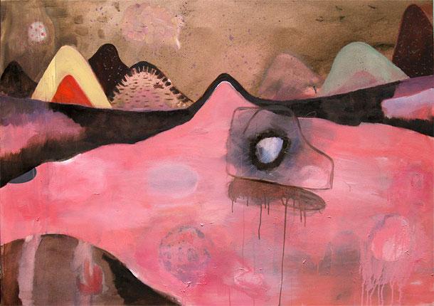knüllwald, 2011, oil and acrylic on canvas, 135 x 95 cm