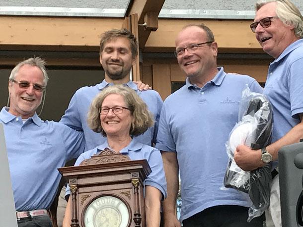 """die Sieger des Kaiserpokals, """"Pit""""Albrecht, """"Mutz"""", Martina Klemmt, Christof Rek und Andreas Haubold"""