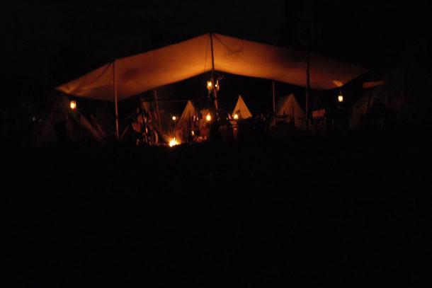 Abendstimmung im Zigeunerlager