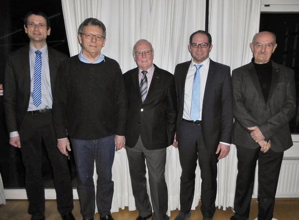 neu in den Beirat berufen wurden v.l. Clemens Joos und Edgar Tritschler