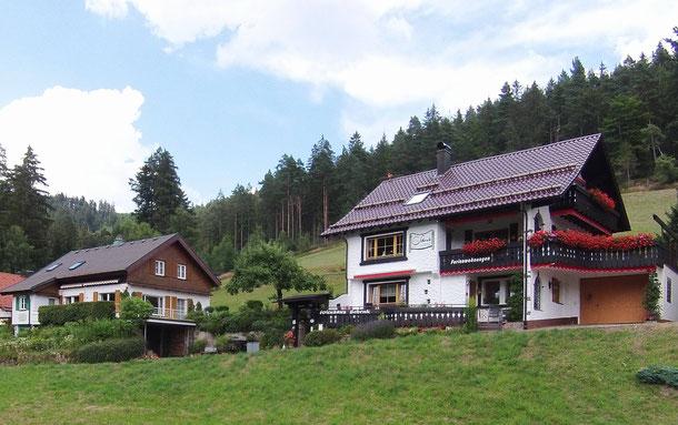 Links das Landhaus und rechts unser Haupthaus.