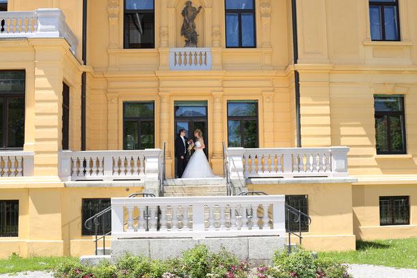 Brautpaar vor der Villa Edelweiß in Immenstadt