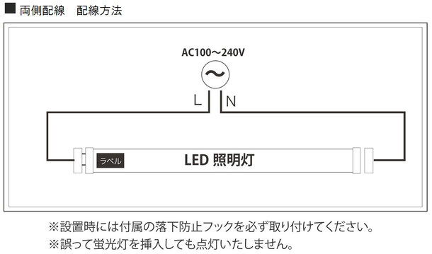 LED電源バイパス工事