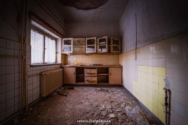 Die kleine Küche in der Klinik