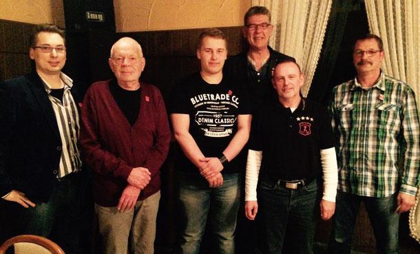 v.l.n.r.: Ltn. Thilo Angermann, Aris Pol, Tino Skalecki, Ltn. Martin Ahrens, Rtf. Wolfgang Dittrich, Bernd Zimmer