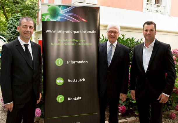 Schirmherr Prof. Dr. med Dr. h.c. Oertel, Vorstand JuP Frank Michler und Rainer Stüber