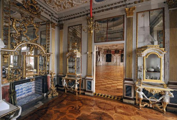 Porzellankabinett auf Schloss Friedenstein Gotha, © Stiftung Schloss Friedenstein Gotha,  Foto: Thomas Wolf