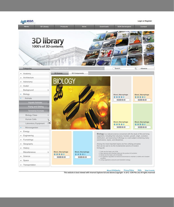 3D library draft layout design