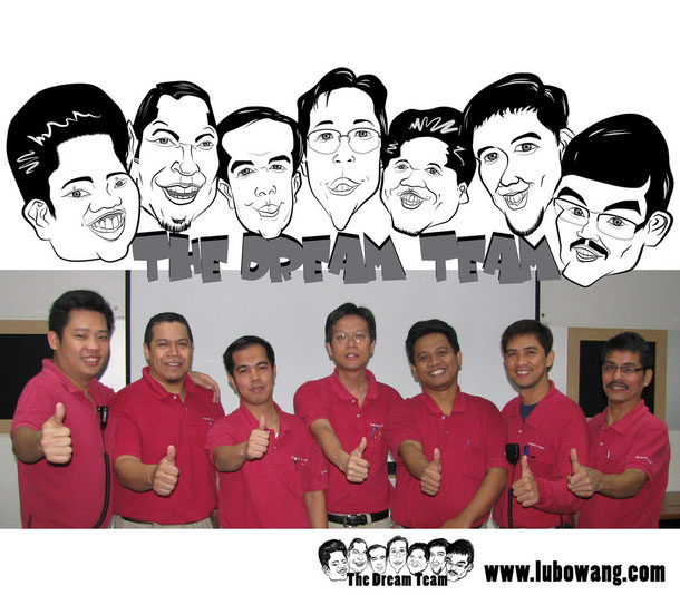 caricature for dream team