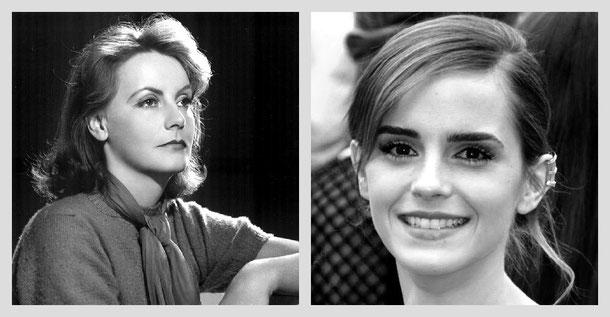 """""""Emma Watson 2013"""" von Georges Biard, lizenziert unter CC BY-SA 3.0  und Clarence Bull, Public domain"""