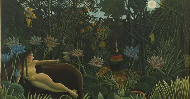 Der Traum (1910) (Gemälde: Henri Rousseau, Lizenz: gemeinfrei)