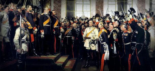 Anton von Werner: Die Kaiserproklamation, Lizenz: gemeinfrei