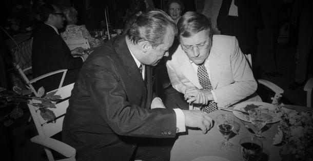 Willy Brandt und Rudolf Augstein. Foto: B 145 Bild-F032086-0037 / Gathmann, Jens / CC-BY-SA 3.0, CC BY-SA 3.0 de