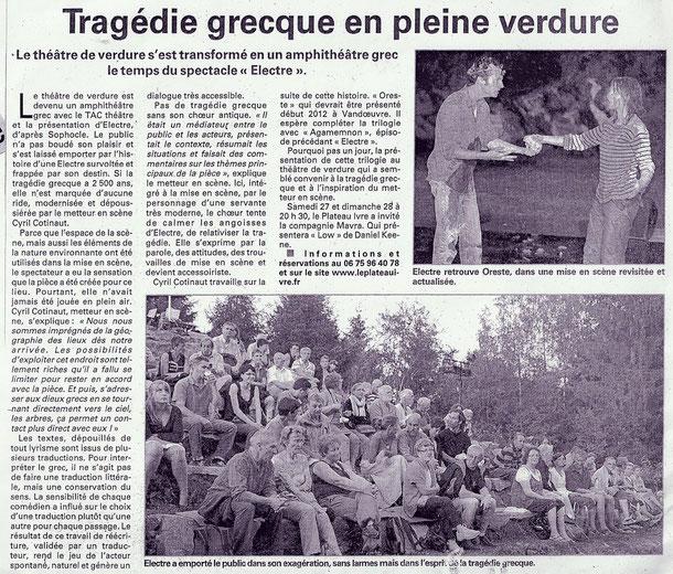 Vosges Matin - 23.08.11