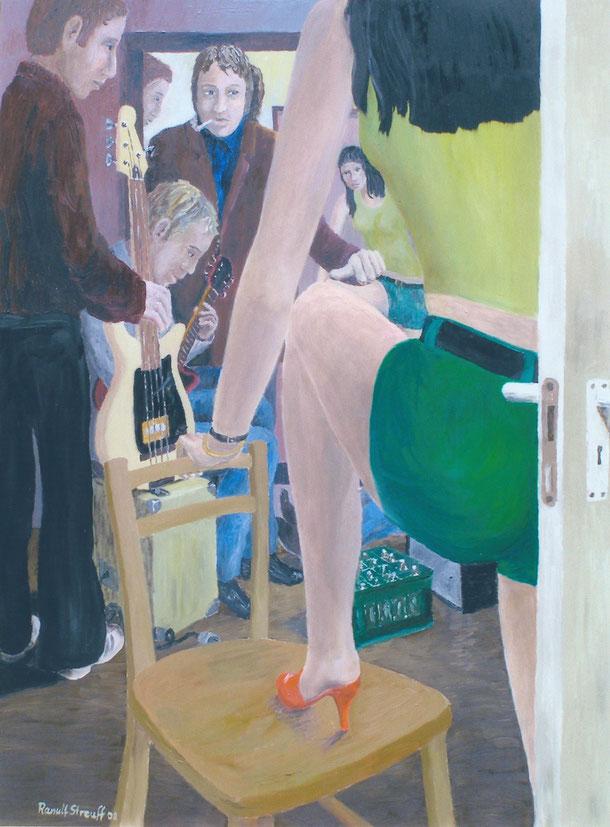 Backstage, Menschen, Malerei