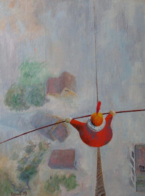 Seiltänzer, Malerei