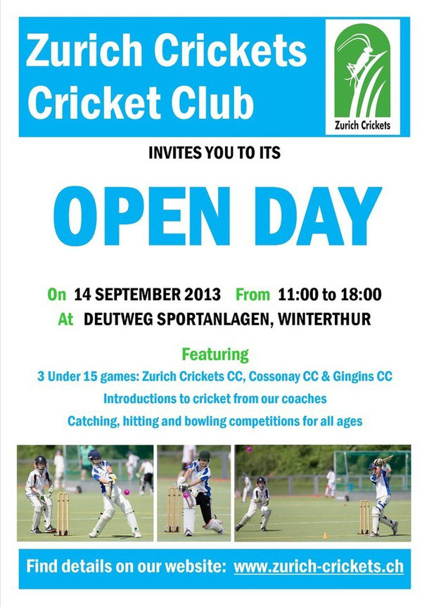 Zurich Crickets Cricket Club Open Day