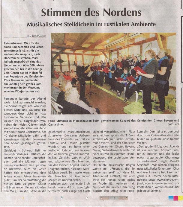 Bremervörder Anzeiger vom 25.08.2013