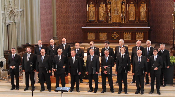 Der Münchner Männerchor beim Jubilo Konzert im Juni 2017