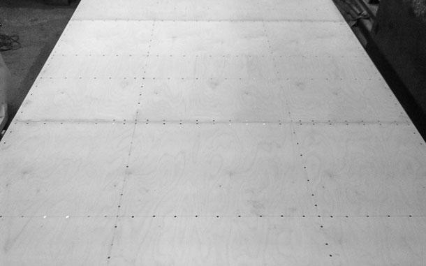 Innenseite Dachplatte Holzkoffer