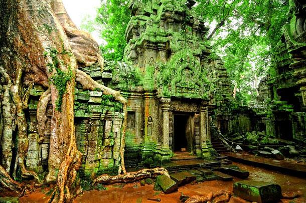 Märchenhafte Tempelruinen in Angkor