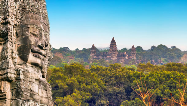 hre Rundreise von Kambodscha nach Thailand beginnt in der mystischen Ruinenstadt Angkor Wat bei Siem Reap.