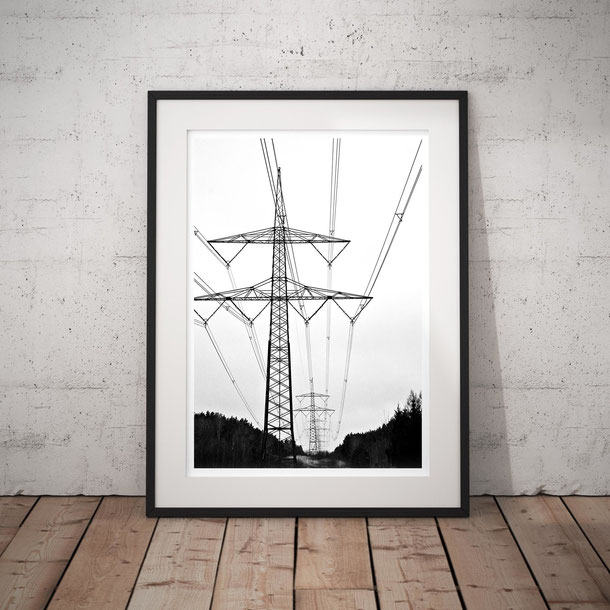 Industrial landscape photography 'Pylon Landscape' by PASiNGA