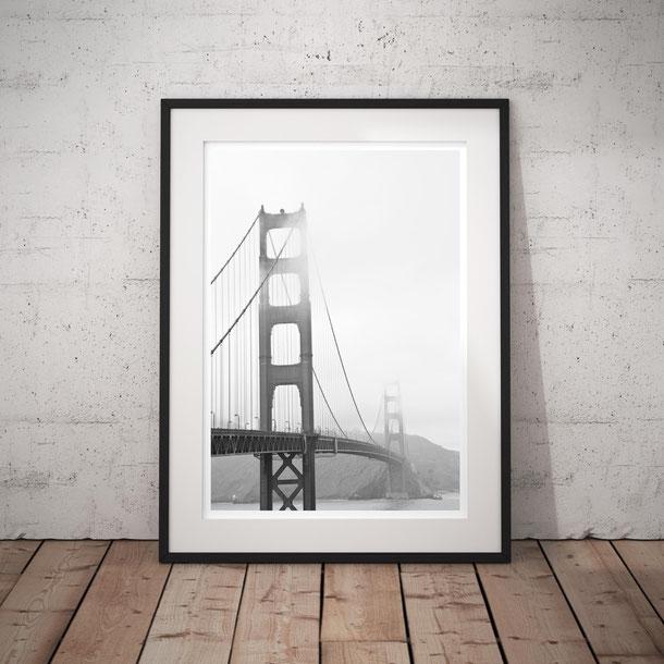 Architecture Photography Print 'Foggy Golden Gate' San Francisco by PASiNGA