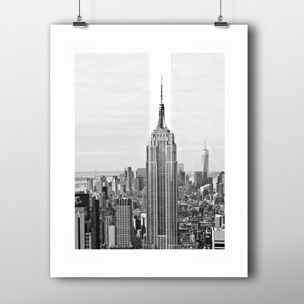 Photographic Art Print 'Empire State Reflection' New York Architecture by PASiNGA