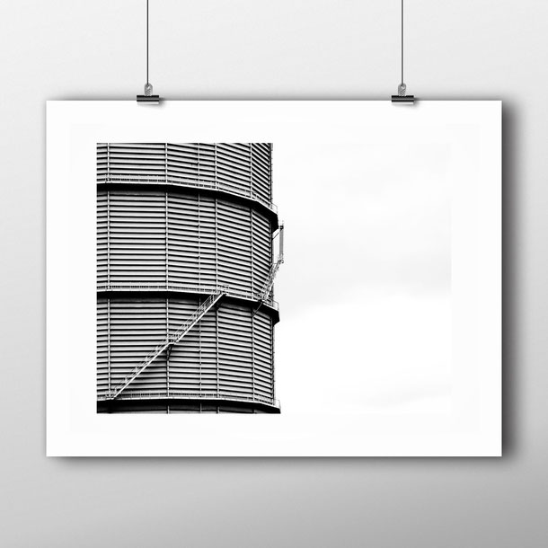 Minimal architectural art print 'The Tin' by PASiNGA