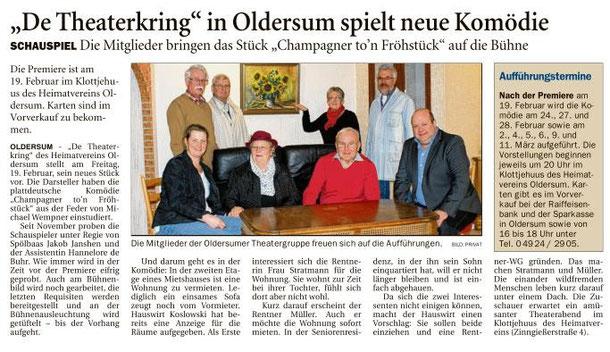 Aus der Ostfriesen Zeitung vom 05.02.2016