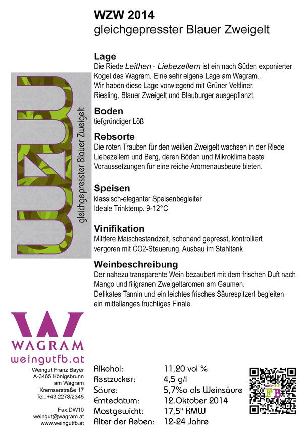 Weißer Zweigelt Weingut Franz Bayer Königsbrunn am Wagram