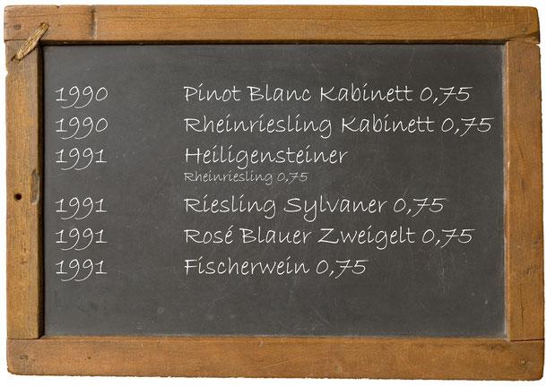 Jahrgangswein 1990 1991 1992 1993 1994 1995 1996 1997 1998 199 Weingut Franz Bayer Königsbrunn am Wagram