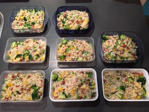 bulk cook meals, freeze leftovers,
