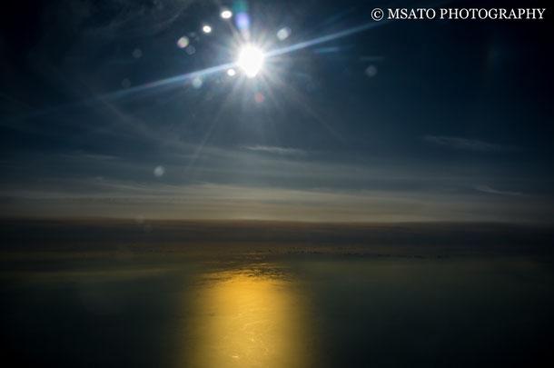 avião, céu azul, por do sol, viagem, mar do Japão, guerra nas estrelas, angeles ladder, mar de nuvens, golden sea