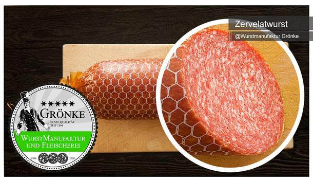 Hausgemachte Zervelatwurst, frisch geräuchert und bester Qualität vom Fleischermeister