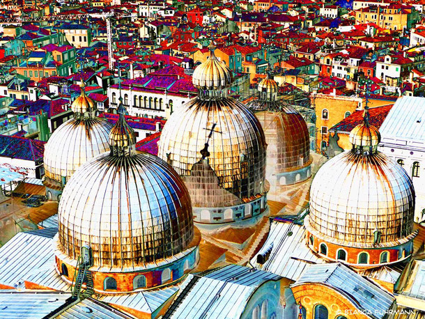 Above The Roofs Of Venice von Bianca Fuhrmann (c) Bianca Fuhrmann - www.bianca-fahrmann-art.com   #bianca_fuhrmann_art