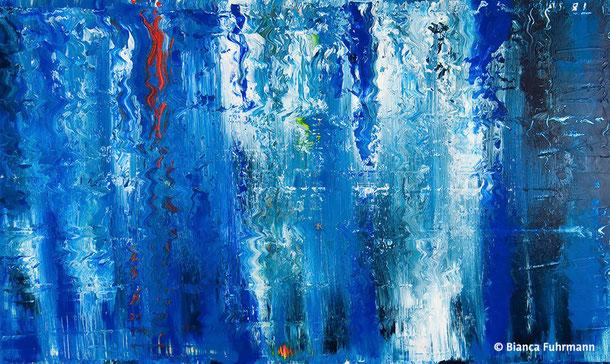 Blau  - Acryl auf Leinwand - (c) Bianca Fuhrmann - www.bianca-fahrmann-art.com   #bianca_fuhrmann_art