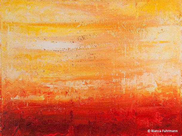 Gelb-Rot  - Acryl auf Leinwand - (c) Bianca Fuhrmann - www.bianca-fahrmann-art.com   #bianca_fuhrmann_art