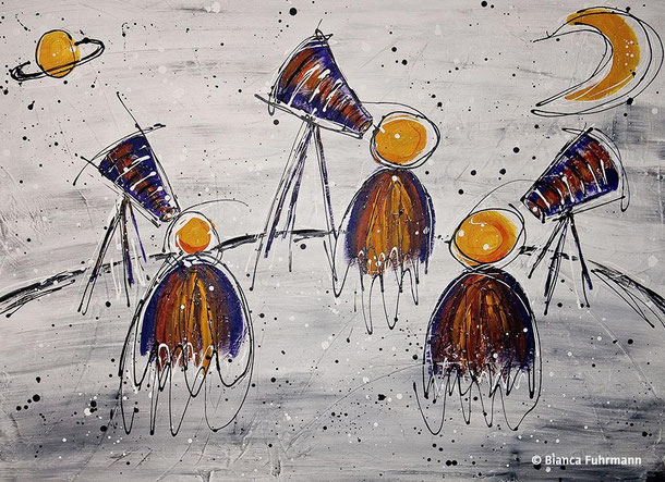 Die Vision  - Acryl auf Leinwand - (c) Bianca Fuhrmann - www.bianca-fahrmann-art.com #bianca_fuhrmann_art